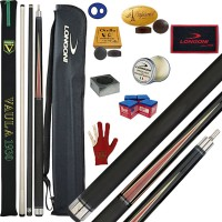 Stecca 5 birilli e 9 birilli-Goriziana biliardo internazionale Vaula Laser 2 Pro, Omologata FIBIS, con doppia punta, acero e fibra di carbonio, con fodero Longoni G 1+1, ricambi, accessori d'uso e omaggio.