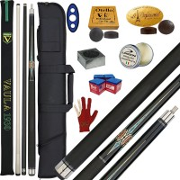 Stecca 5 birilli e 9 birilli-Goriziana biliardo internazionale Longoni Vaula Laser 3 Pro, Omologata FIBIS, con doppia punta, acero e fibra, con fodero Duke 1+2, ricambi, accessori d'uso e omaggio.