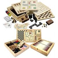 Philos Compendium 10 scatola in legno di pino mm.350 x 350 x 58 contenente basi ed accessori per i classici giochi da tavolo.