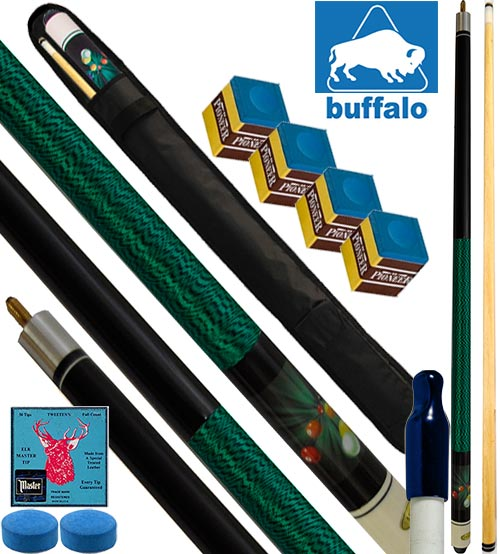 Buffalo Casinò Explosion stecca biliardo pool, tutte le discipline. Stecca 2pz. cm.145, cuoio Ø mm.12, con fodero, ricambi e omaggio.