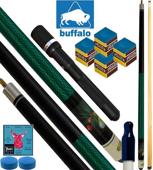 Buffalo Casinò Explosion stecca biliardo pool, tutte le discipline. Stecca 2pz. cm.145, cuoio Ø mm.12. Prolunga, ricambi e omaggio.