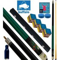 Buffalo Casinò Explosion stecca biliardo pool, tutte le discipline. Stecca 2pz. cm.145 cuoio Ø mm.12, con valigetta porta stecca, ricambi e omaggio.