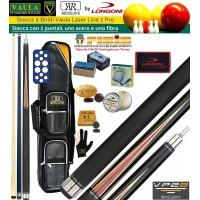 Stecca 5 birilli e 9 birilli-Goriziana biliardo internazionale Longoni Vaula Laser 2 Pro, doppia punta, acero e fibra di carbonio. Omologata CONI FIBIS, abbinata ad un fodero Renzi Line Simon 4+8, ricambi, accessori manutenzione stecca e omaggio.