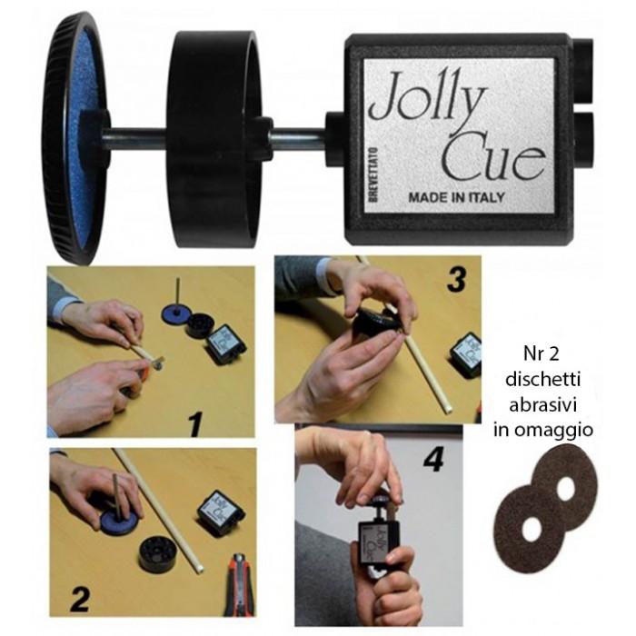 Renzi Line Jolly Cue, dispositivo studiato e brevettato in Italia per la spianatura di ghiere e cuoi, con ricambi in omaggio.