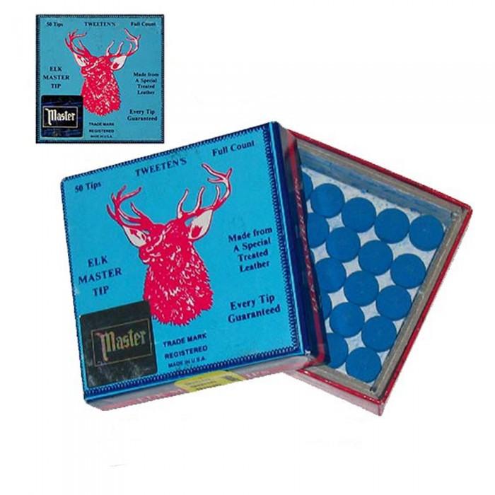 Tweeten Elk Master cuoio per stecca biliardo  mm.12,5. Scatola 50 pezzi.