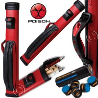 Custodia stecca biliardo Poison by Predator Hard fodero tubo capacità 2 calci e 4 punte. In omaggio gesso Predator.
