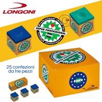 Longoni Nir Super Professional gesso stecca blu 25 confezioni da 3 gessi.