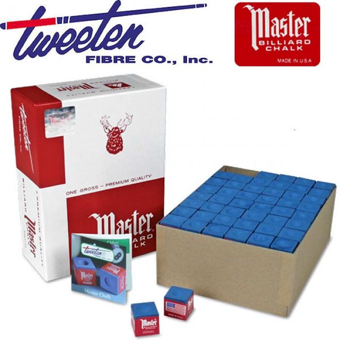Biliardo stecca gesso Master Tweeten blu made USA confezione da 144 gessi in cubetto. Master è il gesso tradizionale e universalmente conosciuto.