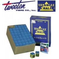 Triangle by Tweeten gesso blu per stecca biliardo, confezione da 144 cubetti.