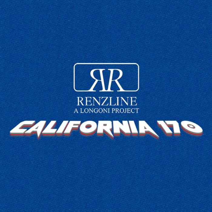 Panno biliardo Pool Renzline (by Longoni) California blu cm.200x170 copertura piano e sponde tavolo, 6 piedi, con buche. Misure biliardo: campo da gioco cm.180x90, ardesia cm.191x99.