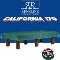 Panno biliardo pool Renzline by Longoni California cm.340x170, blu per piano e sponde biliardo pool 9 piedi, con buche, campo da gioco cm.254x127, ardesia cm.272x145,con coperta per tavolo cm.300x200 e omaggio