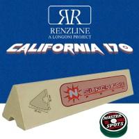 Panno biliardo pool Renzline (by longoni) california blu cm.340x170, copertura piano e sponde tavolo, 9 piedi. Misure biliardo: campo da gioco cm.254x127, ardesia cm.272x145, con set di 6 gomme per sponde Super Pro profilo K66 cm.120 ed omaggio.