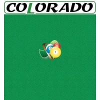 Colorado panno per tavolo biliardo 43% lana e 57% poliestere. Taglio panno cm.265x168 per biliardo Pool 7,5 piedi, campo da gioco cm. 210x105.