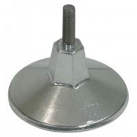 Piedino per tavolo biliardo regolabile diametro cm15 in metallo antimonio