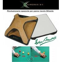 Biliardo Simonis X-1 rivoluzionaria spazzola per accurata e totale pulizia panno biliardo.
