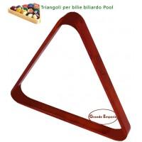Biliardo Pool Triangolo De Lux in legno acero scuro, per il posizionamento bilie diametro  57,2.
