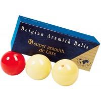 Super Aramith De Luxe set tre biglie per biliardo senza buche specialità carambola Ø mm.61,5.