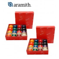 Aramith The Belgian Billiard Balls Continental 2 set bilie diametro mm.57,2, in resina fenolica, disciplina pool.15 bilie numerate e una bianca battente. Speciale sale gioco.