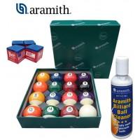 Aramith The Belgian Billiard Balls Continental bilie biliardo diametro mm.38, in resina fenolica, disciplina pool 15 biglie numerate e una bianca battente , con Aramith ball cleaner e omaggio.