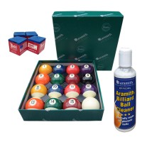 Aramith The Belgian Billiard Balls Continental bilie biliardo diametro mm.38, in resina fenolica, disciplina pool 15 biglie numerate e una bianca battente , con Aramith ball cleaner e omaggio.