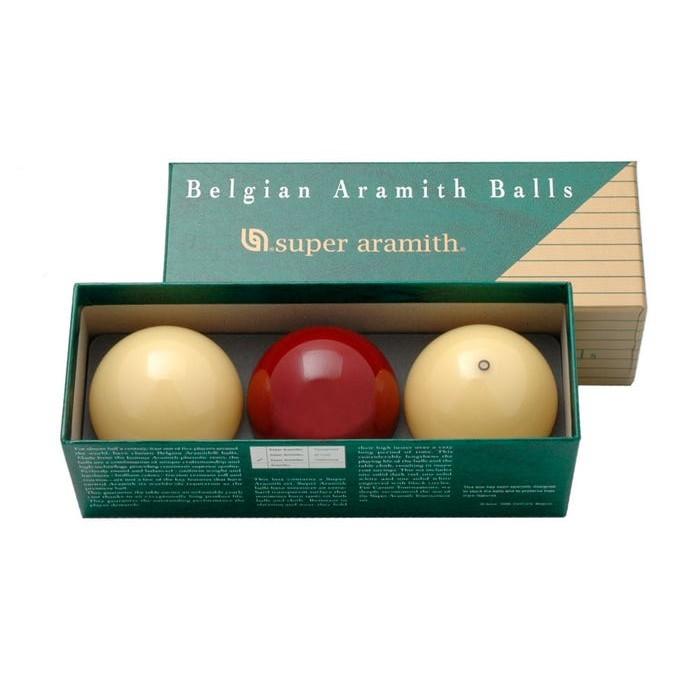 Super Aramith Traditional set tre biglie per biliardo senza buche specialità carambola Ø mm.61,5.