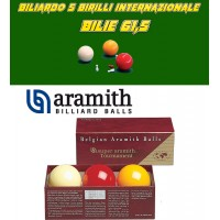 Biliardo 5 birilli bilie Super Aramith Tournament, in resina fenolica. Set tre biglie diametro mm. 61,5 biliardo 5 birilli internazionale senza buche.