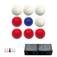 Bilie boccette per biliardo con buche diametro m.59 in resina sintetica  4 bilie rosse - 4 bianche  e un pallino blu diametro m.54 con omaggio