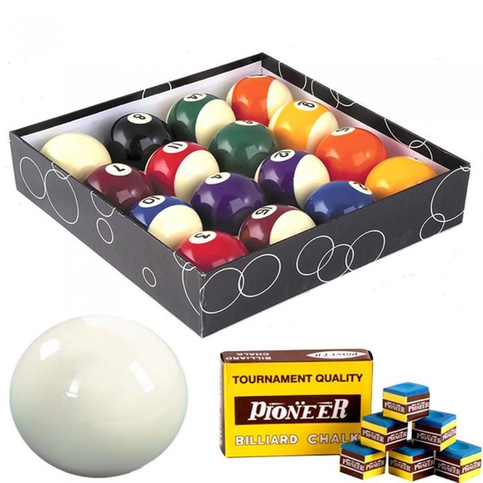 Biglie biliardo pool. Set bilie OAH diametro mm.57,2. 15 palle numerate e 2 bianche battenti gesso per stecca in omaggio.