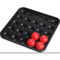 Biliardo  Snooker  vassoio porta biglie per biglie Ø mm.52,4. Vassoio 22 bilie.