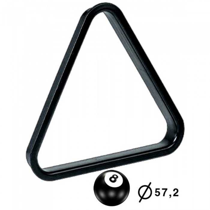 Biliardo pool Triangolo in pvc nero per posizionamento e spacco bilie diametro 57,2