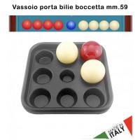 Biliardo boccetta vassoio porta bilie diametro mm.59, nove posti. Prodotto in PVC, made in Italy.