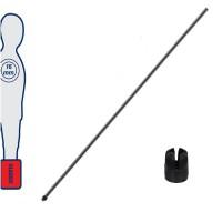 Calcio Balilla astina interna, in acciaio, per aste telescopiche (rientranti)  Lunghezza mm.750, diametro mm.10.