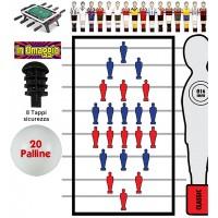 Calcio Balilla aste passanti-uscenti  serie completa otto (8) aste diametro mm.16  complete di ometti  e accessori omaggio.