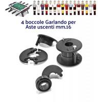 Calcio Balilla Garlando quattro (4) boccole con cuscinetto per aste passanti uscenti diametro mm.16, complete di viti.