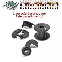 Calcio Balilla Garlando coppia boccole con cuscinetto per aste passanti uscenti diametro mm.16, complete di viti.