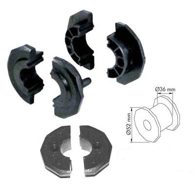 Calcio Balilla ricambi  boccole A90 per calcetto con aste uscenti diametro mm.16, confezione otto (8) boccole.