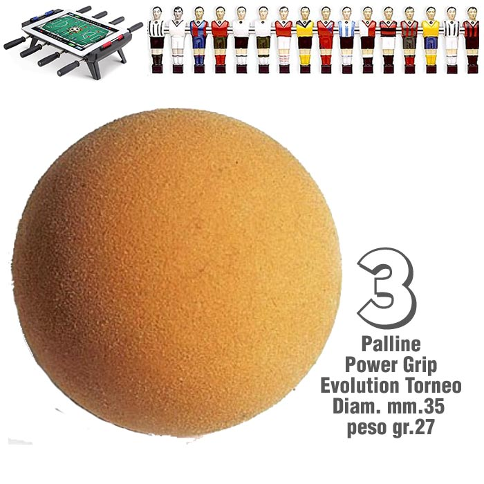Calcio Balilla set 3 palline da competizione modello Power Grip Evolution adatta sopratutto per giocatori esigenti.