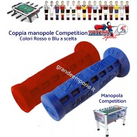 Calcio balilla ricambi Roberto Sport. coppia manopole originali Competition in lattice. Colori rosso o blu
