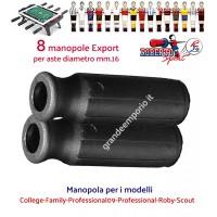 Calcio balilla Roberto Sport,  College-Family-Professional09-Professional-Roby-Scout otto (8) manopole Export colore nero per aste diametro mm.16.