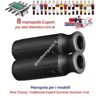 Calcio balilla Roberto Sport,  New Champ- Traditional-Export-Summer-Summer Free otto (8) manopole Export colore nero per aste diametro mm.18.