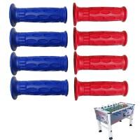 Calcio balilla Roberto Sport Competition, omologato FICB, serie completa 8 manopole Pro Italy professionali colori Rosso, Blu