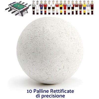 Calcio Balilla accessori. Set 10 palline professionali rettificate per gioco veloce di precisione, da torneo. Diametro mm.34, peso gr. 18/20