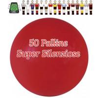 Calcio Balilla 50 Palline Super Silenziose rosse. Mescola specifica per attutire il rumore del colpo, confezione nostra cura.