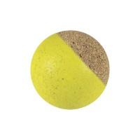 Calcio Balilla set di 10 palline silenziose in sughero naturale giallo, diametro mm.34, peso gr. 13.