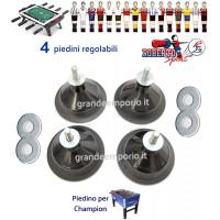 Calcio Balilla Roberto Sport Champion quattro (4 ) piedini regolabili in acciaio e gomma antiscivolo altezza cm.12.c1420