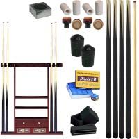 4 Stecche intere CPS/57 ECO pool 145 cm in legno di cassia cuoio mm.12, con stecchiera 6 posti, con cassetti, mensole e segnapunti. Ricambi accessori e omaggi.