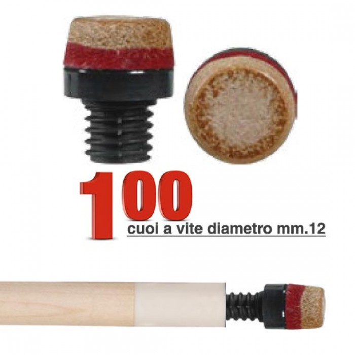 Cuoio a vite in plastica Ø mm.12 confezione da 100 pezzi.