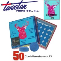 Tweeten Elk Master cuoio per stecca biliardo Ø mm.13. Scatola 50 pezzi.