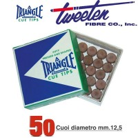 Tweeten Triangle confezione 50 cuoi per stecca biliardo durezza medium Ø mm.12,5.