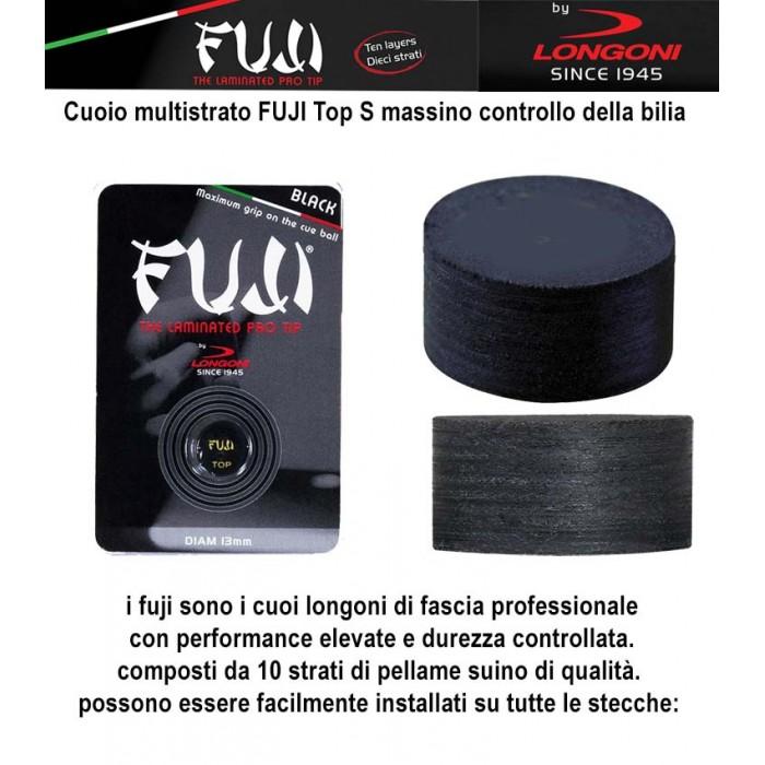 Cuoio Longoni Fuji black 0 13 soft per stecca da biliardo